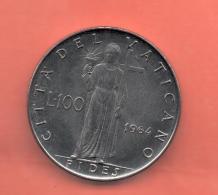 VATICANO - 100 Liras 1964  KM82 - Vaticano (Ciudad Del)