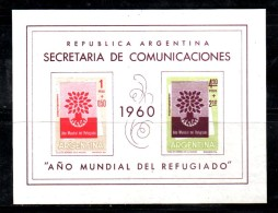 PB1 - ARGENTINA 1960 , BF N. 11  ***  Rifugiato - Blocchi & Foglietti