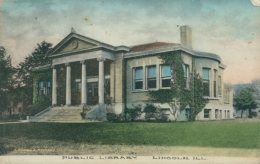 GB LINCOLN / Public Library / CARTE COULEUR - Lincoln