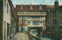 GB LINCOLN / Waterway Under Bridge High Street / CARTE COULEUR - Lincoln