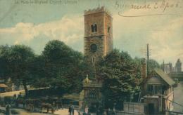 GB LINCOLN / Saint-Mary-le-Wigford Church / CARTE COULEUR - Lincoln