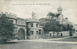 GB LINCOLN / Gateway Of Castle From The Grounds / - Lincoln