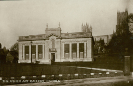 GB LINCOLN / The Usher Art Gallery / CARTE GLACEE - Lincoln