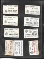 ABONNEMENT  RESEAU   TRAMWAYS   ALGERIE  1959 -1967 - Wochen- U. Monatsausweise