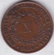 Portugal, X (10) REIS 1850, MARIA II, KM# 481 - Portogallo