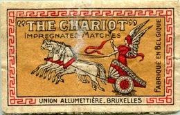 Étiquette De Boîte D´Allumettes (Bruxelles - Belgique) - Impregnated Matches ´´The Chariot´´ - Boites D'allumettes - Etiquettes