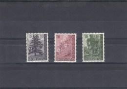 Liechtenstein - Année 1957 - Neufs** -  Arbres Et Arbustes -  YT 319/321 - Liechtenstein