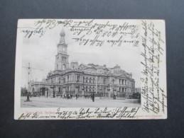 AK New South Wales Australia 1906 Town Hall, Sydney. Mischfrankatur - Sydney