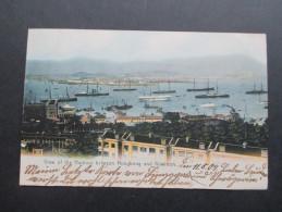 AK China / Hong Kong 1907 View Of The Harbour Between Hongkong And Kowloon. Tolle Karte - China (Hongkong)