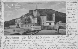 Souvenir De MONACO  -  Le Chateau Du Prince (edts Kunzli ) Debut 1900 - Monaco