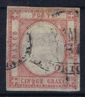 Italy:  Sa 21  Mi 5 Used Obl. - 1861-78 Vittorio Emanuele II