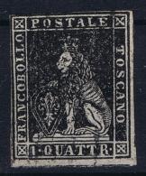 Toscana  Sa 10  Mi 10  Used Obl. 1857 Signed/ Signé/signiert/ Approvato - Tuscany