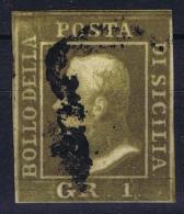 Sicilia   Sa 4 Mi 2 Used Obl 1859 Signed/ Signé/signiert/ Approvato - Sicily