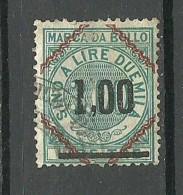 ITALIA ITALY Revenue Tax Fiscal Stamp O - 1878-00 Umberto I