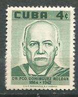 CUBA Scott # 591 ** MNH Set Roldan Rdiotherapy / MEDICINA RADIOLOGIA. - Cuba