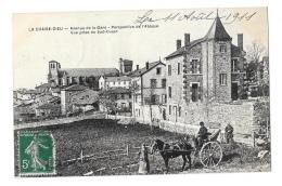 (9325-43) La Chaise Dieu - Avenue De La Gare - Perspective De L'Abbaye - Attelage - France