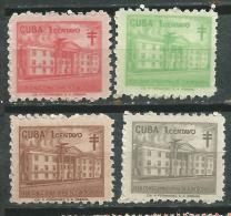 CUBA Scott # RA39/42 ** MNH Set National Council Of Tuberculosis Beneficencia Charity - Beneficiencia (Sellos De)
