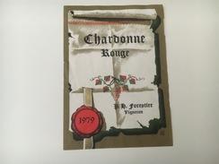 712 -  Suisse Vaud  Chardonne Rouge 1979 - Etiquettes