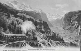 WENGERNALPBAHN → Vollbesetzte Dampfbahn, Ca.1920 - BE Bern