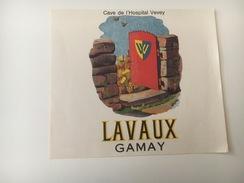 713 -  Suisse Vaud  Lavaux Gamay Cave De L'Hospital Vevey - Etiquettes