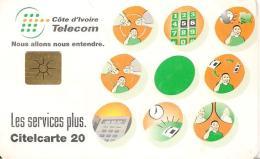 CARTE PUCE-COTE IVOIRE-CITELCARTE20-Les SERVICES PLUS-BE - Côte D'Ivoire