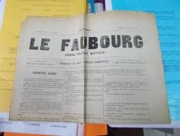XIXe JOURNAL LE FAUBOURG MERCREDI 26 MARS 1871 RARE GUSTAVE MAROTEAU Histoire Politique Révolution Commune Pari 1870 - Journaux - Quotidiens