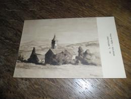 CPA De L'église De Fléty - N°60 - Morvan - Illustrateur Lucien Seevagen Artiste Peintre(1887-1959) - France