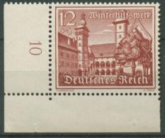 Deutsches Reich 1939 WHW Bauwerke 735 X Ecke Unten Links Postfrisch Senkr. Riff. - Neufs