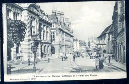 Cpa  De Suisse Vaud -- La Banque Cantonale Et L' Hôtel Des Postes     LIOB99 - VD Vaud
