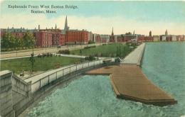 BOSTON - Esplanade From West Boston Bridge - Boston