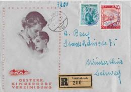 KINDERDORF-VEREINIGUNG → 1. österr.Ballon-Post-Flug 1948 - Ganzsachen