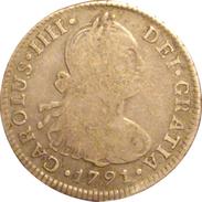 ESPAÑA. CARLOS IV. 2 REALES 1.791 LIMA. SPAIN. ESPAGNE - [ 1] …-1931 : Reino