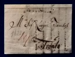Prefilatelica 1820 Da Monaco A Trento Con Testo - 1. ...-1850 Prephilately