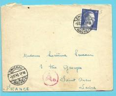 """Brief Met Stempel ZWICKAU Op 9/12/43 Met Stempel BETRIEBSLAGER / WEISENBORN -> """"France"""" (VK) - Briefe U. Dokumente"""