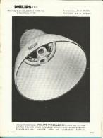 Publiciteit PHILIPS PHILULEX QH  (recto-verso) 1947 - Électricité & Gaz