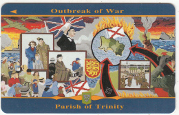 JERSEY ISL. - Liberation 10/Outbreak Of War, CN : 39JERJ(normal 0), Tirage 15000, Used - United Kingdom