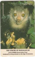 JERSEY ISL. - The Lemurs Of Madagascar/Aye Aye, CN : 22JERA(normal 0), Tirage %12200, Used