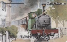 JERSEY ISL.(GPT) - Trains/St.Helier At St.Aubin, CN : 3JERD(normal 0), Tirage 27270, Used - United Kingdom
