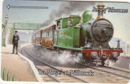 "JERSEY ISL.(GPT) - Trains/""La Moye"" At Millbrook, CN : 3JERB(normal 0), Tirage 25000, Used - United Kingdom"