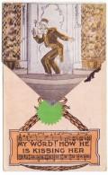 Brooklyn New York, New Montauk Theater 'The Merry Widow', Play Operetta C1900s/10s Vintage Fold-out Postcard - Brooklyn