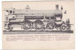 Goelsdorf Design Express Train Engine, German Design, C1910s/20 Vintage Postcard - Trains