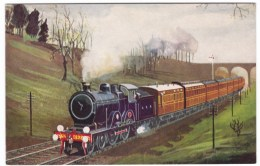 G.E.R. Cromer-Liverpool St. Train Near Brentwood, Great Britain Railroad, C1910s/30s Vintage Postcard - Trains