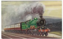 G.C.R. Manchester-Marylebone Express Train, Great Britain Railroad, C1910s/30s Vintage Postcard - Trains