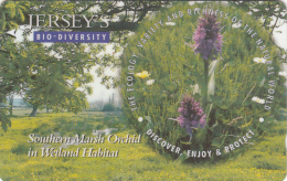 "JERSEY ISL. - Jersey""s Bio Diversity/Southern Marsh Orchid, CN : 57JERA(normal 0), Tirage %20000, Used - United Kingdom"