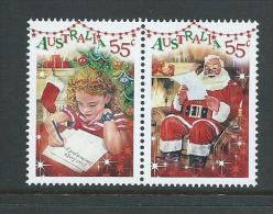 Australia 2010 Santa Christmas Greetings Joined Pair MNH - 2010-... Elizabeth II