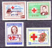 GUATEMALA   C 239-42  **  WRY   RED  CROSS - Guatemala