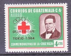 GUATEMALA   C 286    *  OLYMPICS  64      RED  CROSS - Guatemala