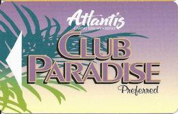 Atlantis Casino Reno, NV Slot Card - Preferred To Right - PPC Over Mag Stripe (BLANK) - Casino Cards