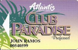 Atlantis Casino Reno, NV Slot Card - Preferred To Right - PPC Over Mag Stripe - Casino Cards