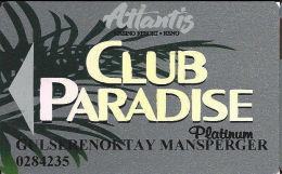 Atlantis Casino Reno, NV Slot Card - PPC Over Mag Stripe - Casino Cards
